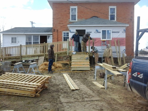 Wheelchair Ramp Nearing Completion