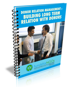 Donor Relation Management: Building long term relation with Donors