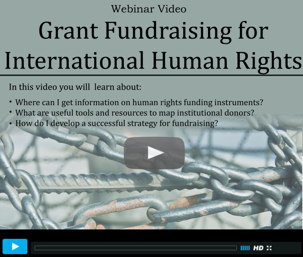 Grant Fundraising for International Human Rights (main)
