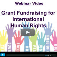 Webinar Video: Grant Fundraising for International Human Rights