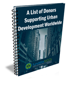 A List of Donors Supporting Urban Development Worldwide
