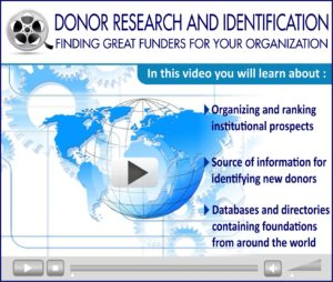 Webinar Video: Donor Research and Identification