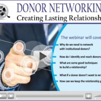 Webinar Video:  Donor Networking – Creating Lasting Relationships