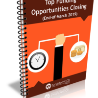 Top Funding Opportunities Closing (End-of-March 2019)