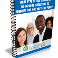 What type of Due Diligence do Donors undertake to identify the NGO they can fund?