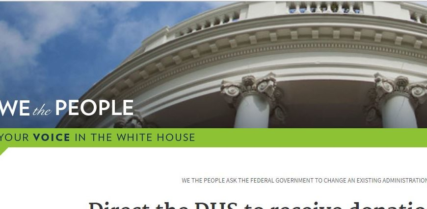 We created a petition to ask President Trump to direct DHS to receive our funds