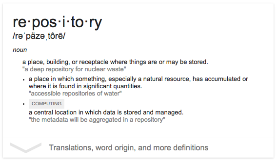 repository definition