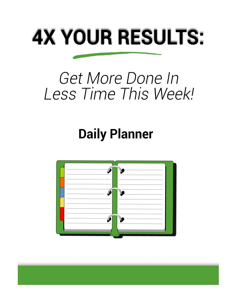 4x Daily Planner