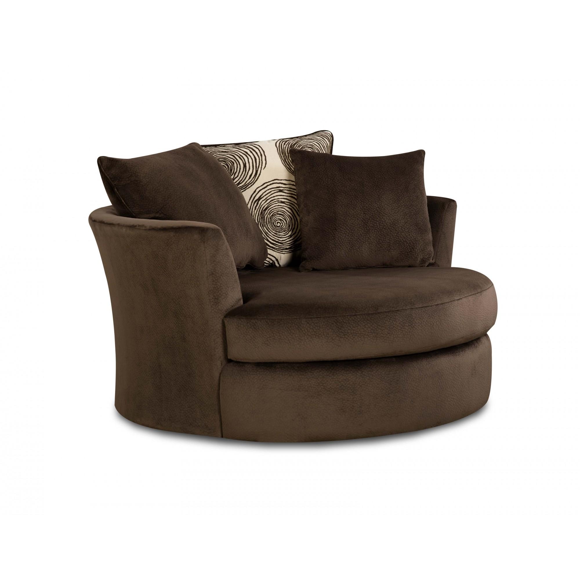 Garfield Chocolate Swivel Chair | Chairs | Seat-N-Sleep
