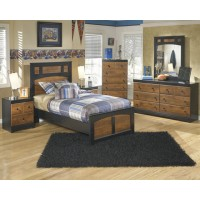 Aimwell Twin Bed, Dresser & Mirror