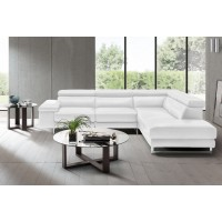 Saggezza - Optical White Leather - Sectional