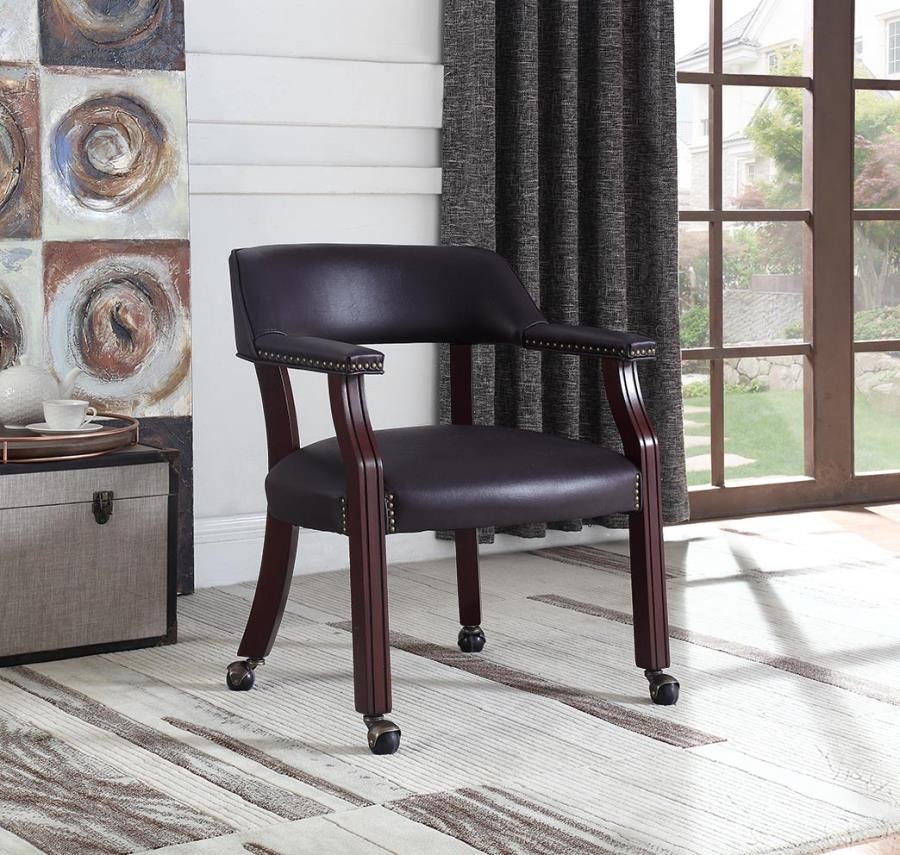 home office : chairs - modern burgundy office chair