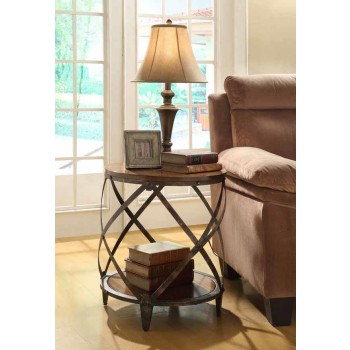 Contemporary Metal Accent Table
