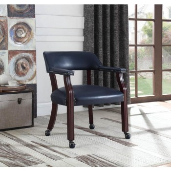 HOME OFFICE : CHAIRS - Modern Blue Guest Chair