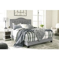 Jerary - Grey - King Upholstered Bed