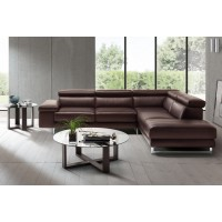 Saggezza - Espresso Leather - Sectional