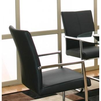 CRAMCO FURNITURE Virgo Black Arm Chairs (2pk)