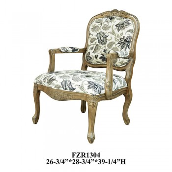 CRESTVIEW COLLECTIONS Huntley Pattern Fabric Accent Chair