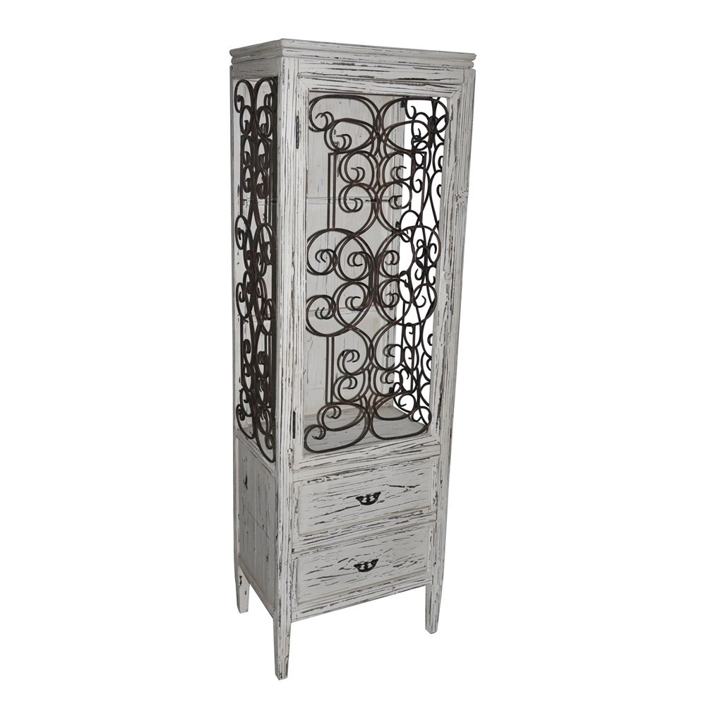 CRESTVIEW COLLECTIONS Santa Rosa Distressed Metal And Wood Cabinet