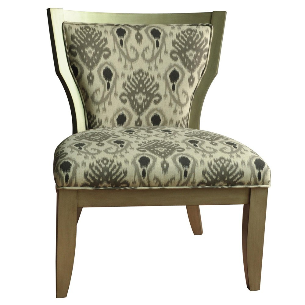 CRESTVIEW COLLECTIONS Madison Champagne Ikat Chair