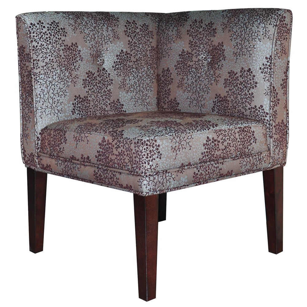 Beau CRESTVIEW COLLECTIONS Alexandria Upholstered Corner Chair