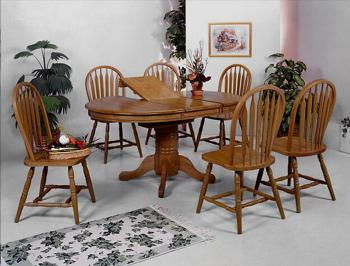 CROWN MARK Dark Oak Arrow Windsor Chair 38