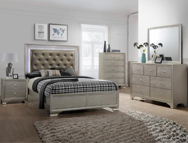 Crown Mark Farrow Queen Bedroom Group: CROWN MARK Andros Bedroom Group