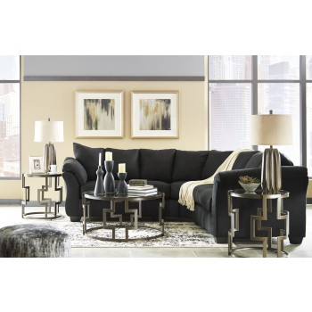 Darcy - Black 2 Pc. Sectional