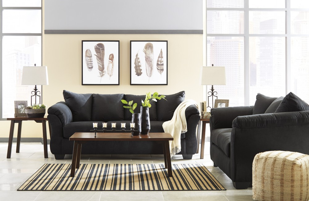 Darcy - Black - Sofa & Loveseat