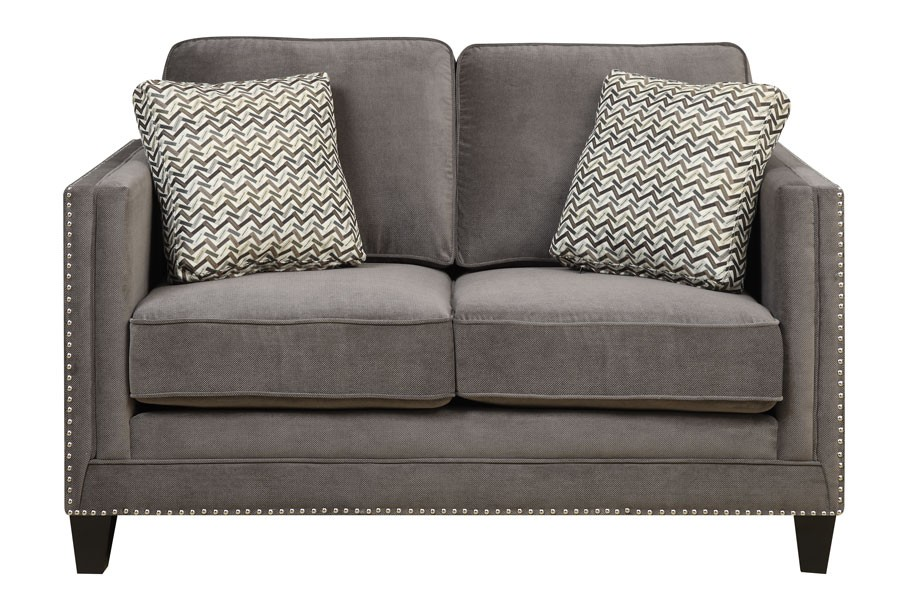 Loveseat With 2 Pillows Grey U3139a0103 Love Seats Midwest