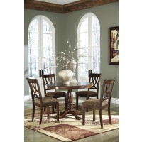 Leahlyn Round Table & 4 Upholstered Chairs