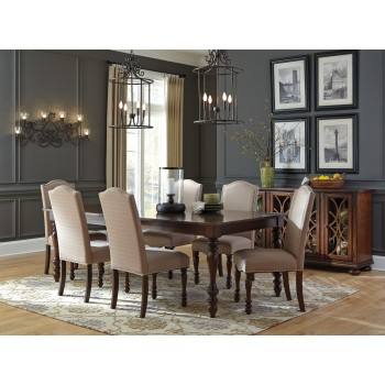 Baxenburg RECT Dining Room EXT Table & 6 UPH Side Chairs