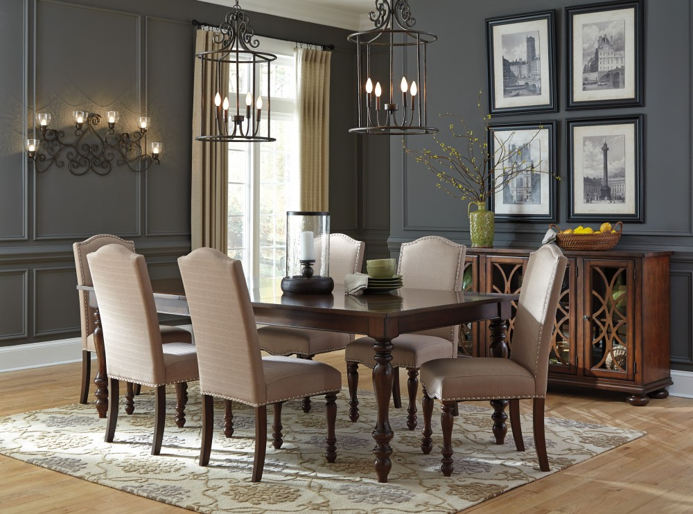 Ordinaire Baxenburg RECT Dining Room EXT Table U0026 6 UPH Side Chairs