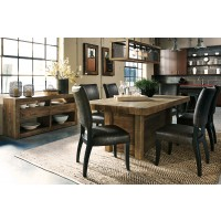 Sommerford Rectangular Dining Room Table & 6 UPH Side Chairs