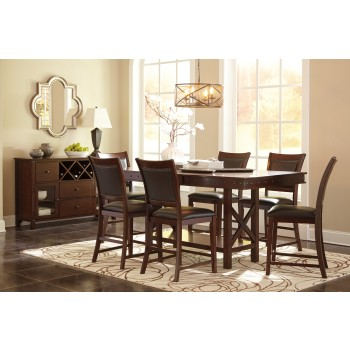 Collenburg RECT DRM Counter EXT Table & 6 UPH Barstools