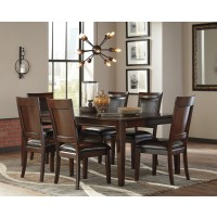 Shadyn RECT Dining Room EXT Table & 6 UPH Side Chairs