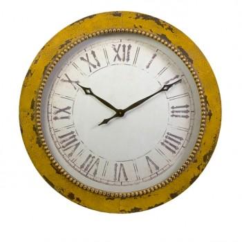 Bryony Yellow Wall Clock