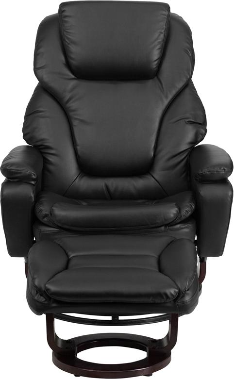 Brilliant Flash Furniture Contemporary Black Leather Recliner And Dailytribune Chair Design For Home Dailytribuneorg