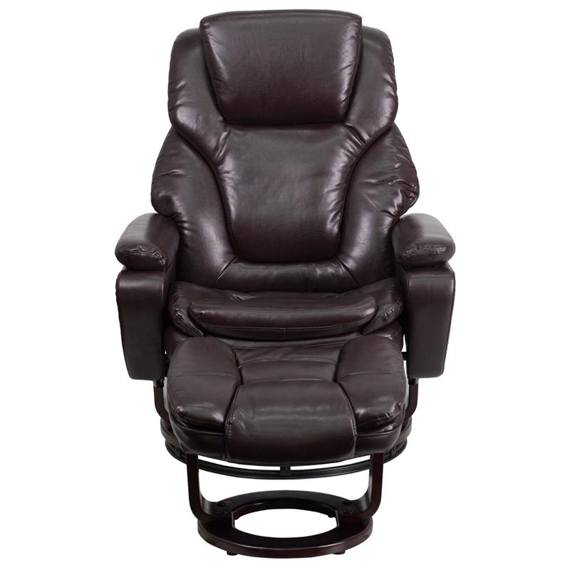 Fabulous Flash Furniture Contemporary Brown Leather Recliner And Dailytribune Chair Design For Home Dailytribuneorg
