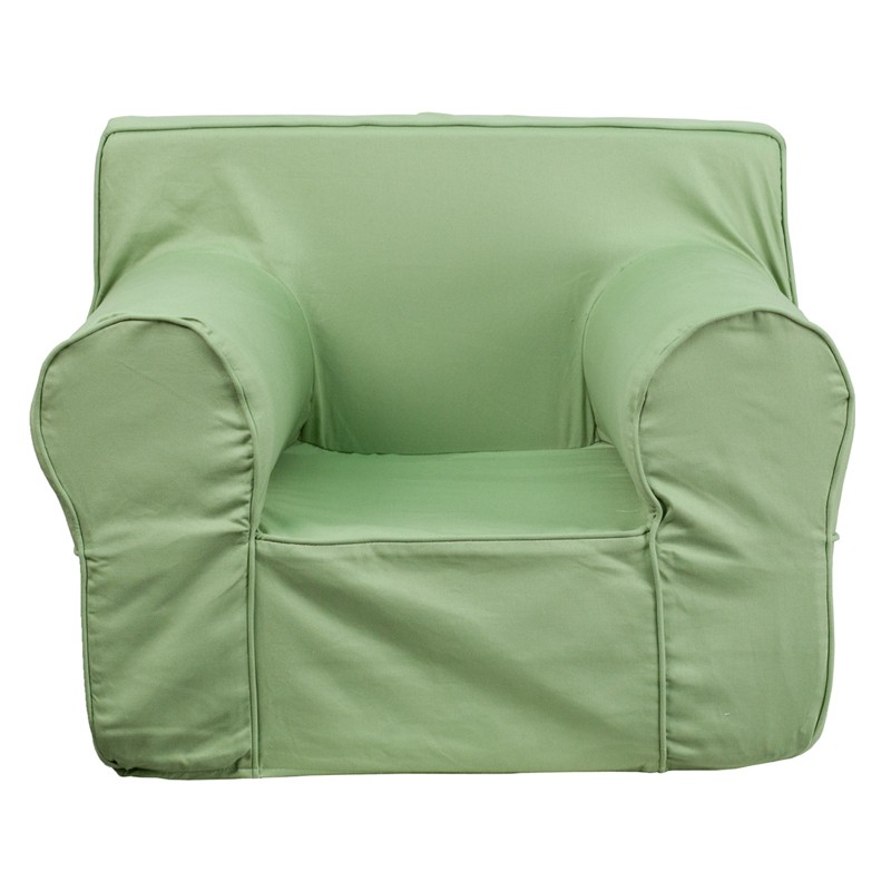 Pleasant Flash Furniture Oversized Solid Green Kids Chair Andrewgaddart Wooden Chair Designs For Living Room Andrewgaddartcom