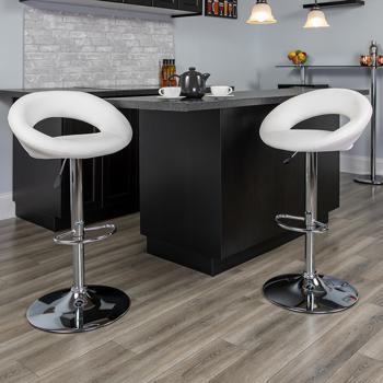 Peachy Flash Furniture Contemporary White Vinyl Rounded Back Evergreenethics Interior Chair Design Evergreenethicsorg
