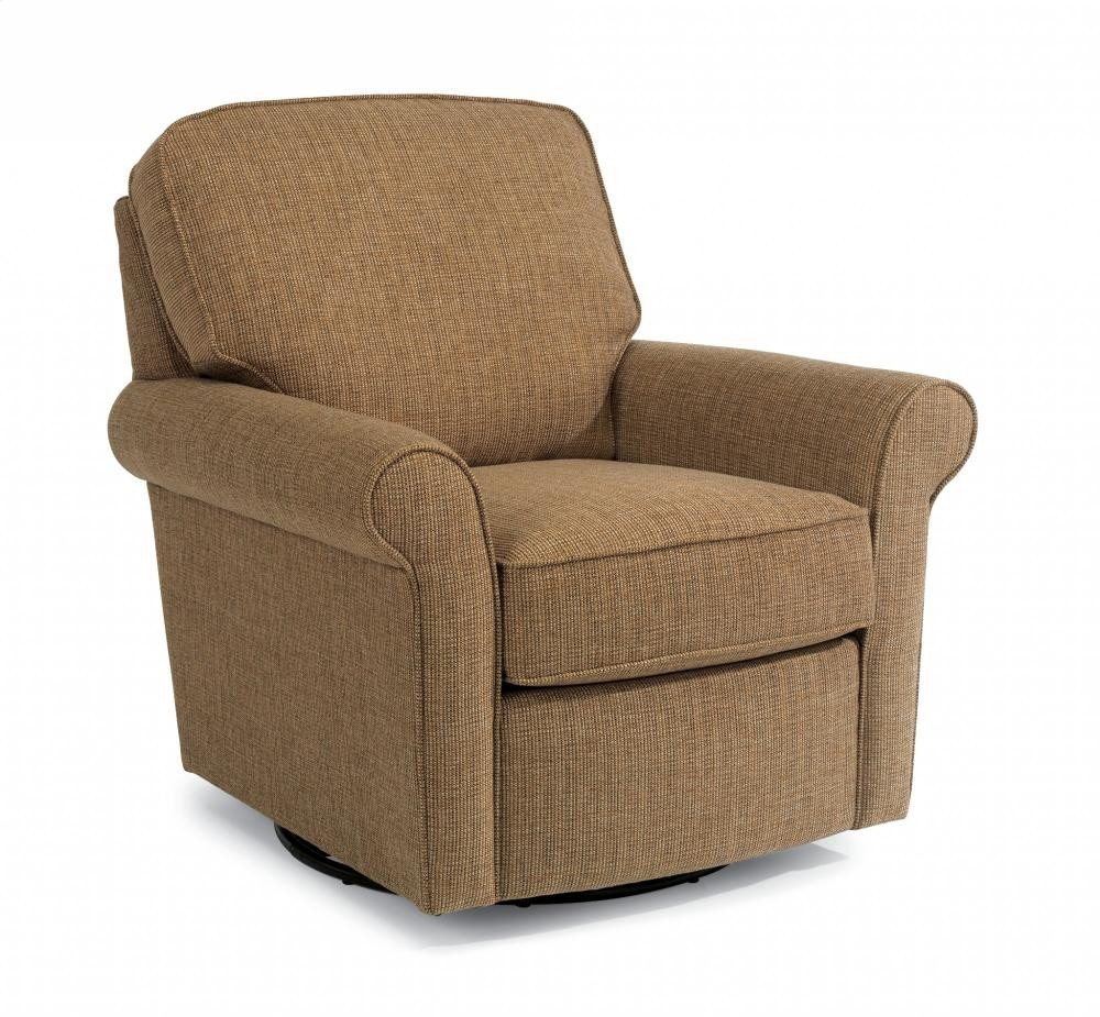Parkway fabric swivel glider 002c13 chairs naturally wood furniture for Fabric swivel armchairs for living room