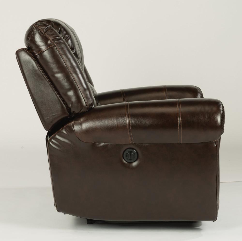 Flexsteel Crosstown Leather Reclining Sofa Baci Living Room