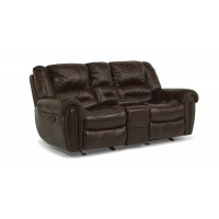 Stupendous Leather Reclining Power Loveseat Furniture Eagle Grove Ia Machost Co Dining Chair Design Ideas Machostcouk