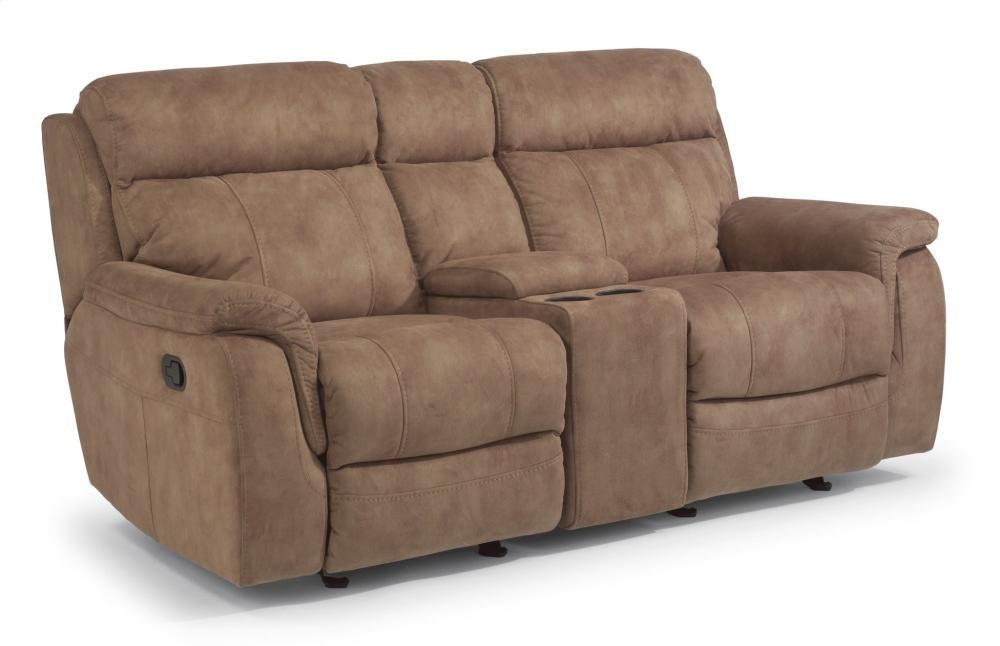 Casino Gliding Reclining Loveseat with Console