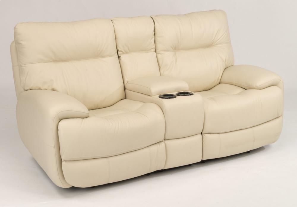 Wondrous Evian Leather Power Reclining Loveseat With Console Creativecarmelina Interior Chair Design Creativecarmelinacom