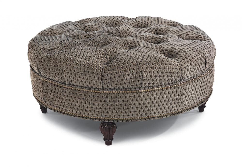 Martin Fabric Round Cocktail Ottoman 7415094 Cocktail