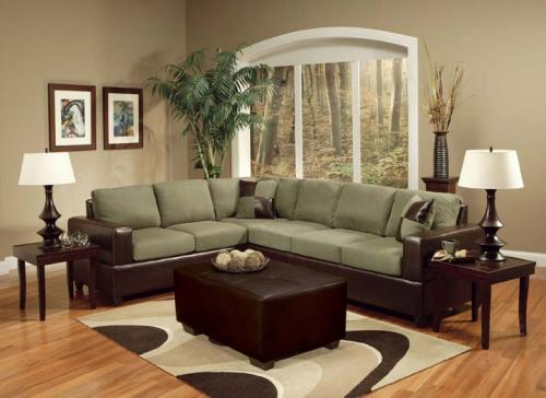 Mint Chocolate Living Room Group Sectional | 0100 - Group ...