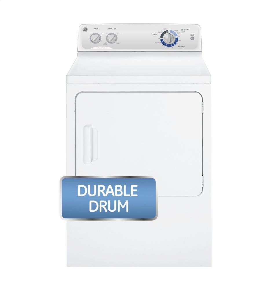 GENERAL ELECTRIC GE(R) 6.8 cu. ft. capacity Dura Drum electric dryer