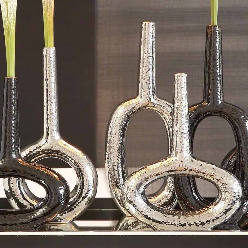Keyhole Vase-Round-Silver